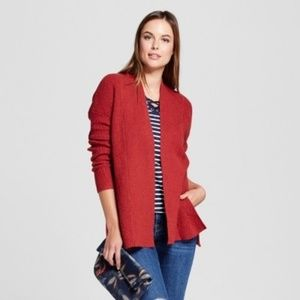A New Day Women's Open Cardigan Size: 2X, Red